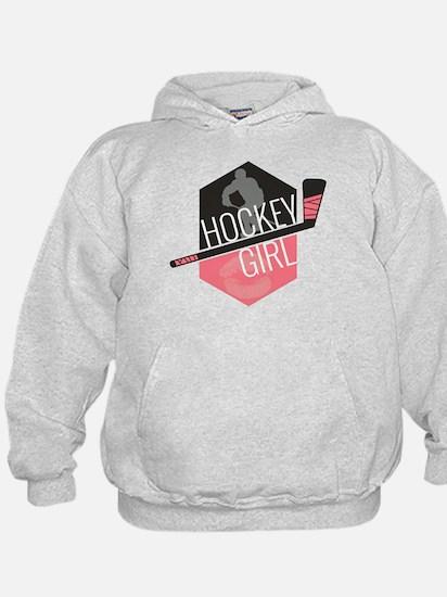 Hockey Girl (Pink) Hoodie