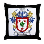 Greenless Coat of Arms Throw Pillow