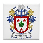 Greenless Coat of Arms Tile Coaster