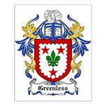 Greenless Coat of Arms Small Poster