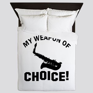 Saxophone Weapon Of Choice Queen Duvet