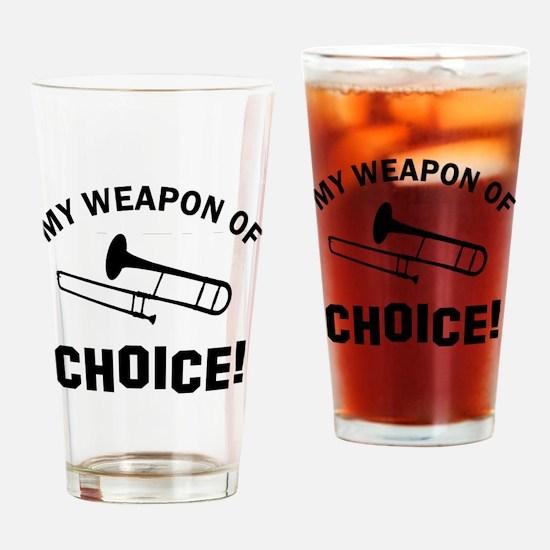 Trombone Weapon Of Choice Drinking Glass
