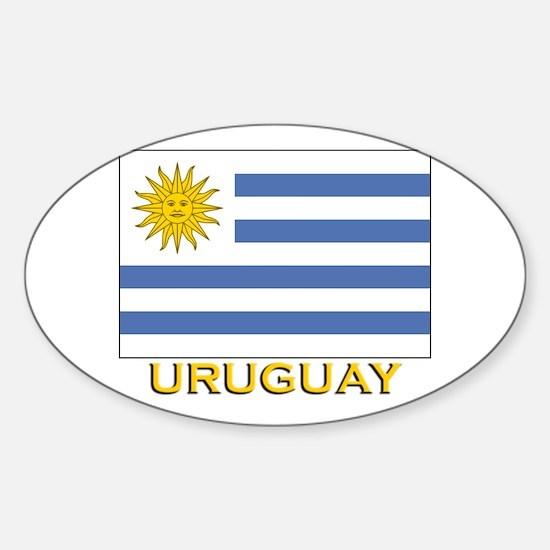 Uruguay Flag Stuff Oval Decal