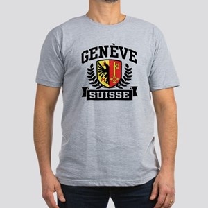 Geneve Suisse Men's Fitted T-Shirt (dark)