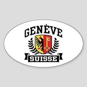 Geneve Suisse Sticker (Oval)