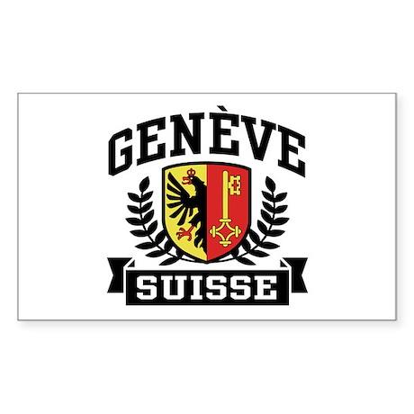 Geneve Suisse Sticker (Rectangle)