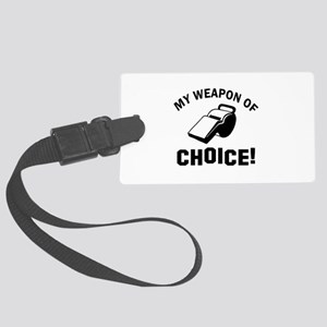 Referee designs Large Luggage Tag