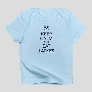 Keep Calm and Eat Latkes Infant T-Shirt