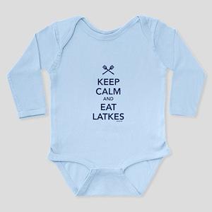Keep Calm and Eat Latkes Long Sleeve Infant Bodysu