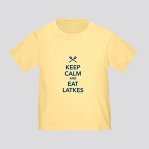 Keep Calm and Eat Latkes Toddler T-Shirt