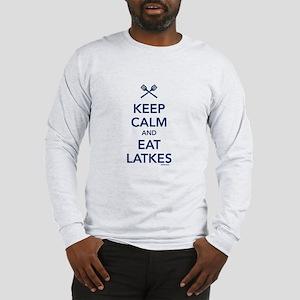 Keep Calm and Eat Latkes Long Sleeve T-Shirt
