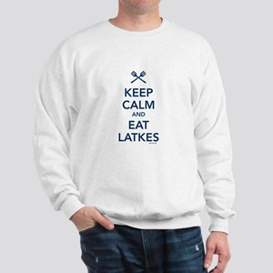 Keep Calm and Eat Latkes Sweatshirt