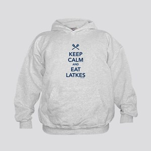 Keep Calm and Eat Latkes Kids Hoodie