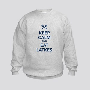 Keep Calm and Eat Latkes Kids Sweatshirt