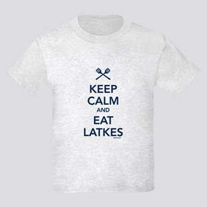 Keep Calm and Eat Latkes Kids Light T-Shirt