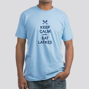 Keep Calm and Eat Latkes Fitted T-Shirt