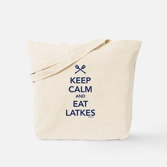 Keep Calm and Eat Latkes Tote Bag