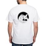 Saw Blade Rex White T-Shirt