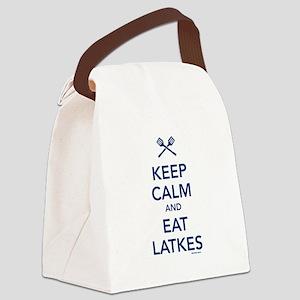 Keep Calm and Eat Latkes Canvas Lunch Bag