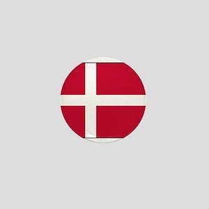 Denmark - National Flag - Current Mini Button