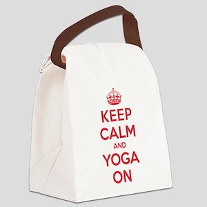 Keep Calm Yoga Canvas Lunch Bag
