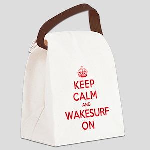Keep Calm Wakesurf Canvas Lunch Bag