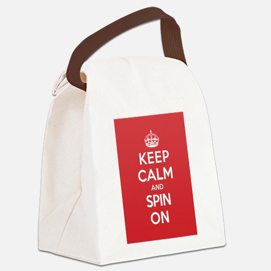 Keep Calm Spin Canvas Lunch Bag