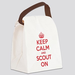 Keep Calm Scout Canvas Lunch Bag