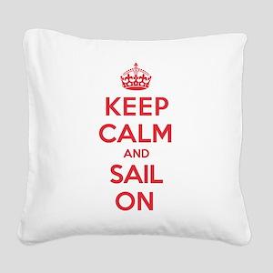 Keep Calm Sail Square Canvas Pillow