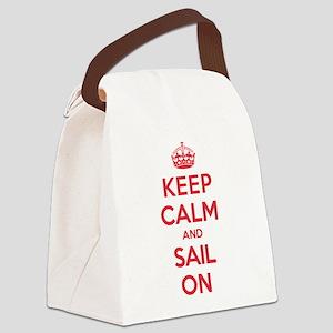 Keep Calm Sail Canvas Lunch Bag