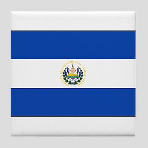 El Salvador - National Flag - Current Tile Coaster