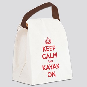 Keep Calm Kayak Canvas Lunch Bag
