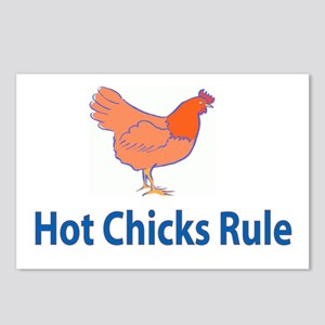 Hot Chicks Rule! Postcards (Package of 8)