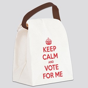 K C Vote For Me Canvas Lunch Bag