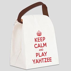 K C Play Yahtzee Canvas Lunch Bag