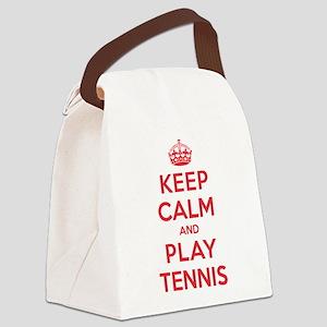 K C Play Tennis Canvas Lunch Bag