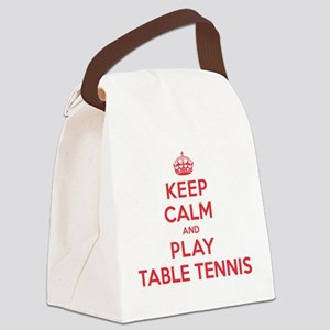 K C Play Table Tennis Canvas Lunch Bag