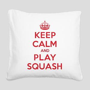K C Play Squash Square Canvas Pillow