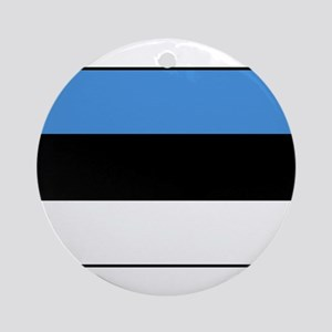 Estonia - National Flag - Current Round Ornament