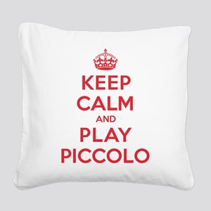 K C Play Piccolo Square Canvas Pillow