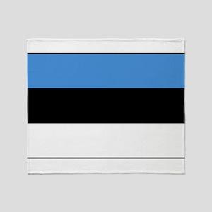 Estonia - National Flag - Current Throw Blanket