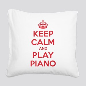 K C Play Piano Square Canvas Pillow