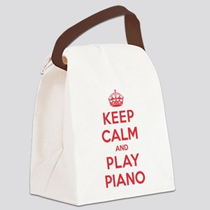 K C Play Piano Canvas Lunch Bag