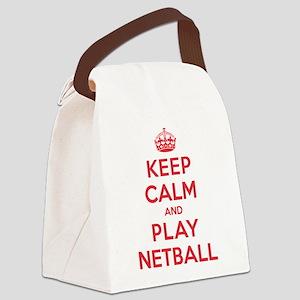 K C Play Netball Canvas Lunch Bag