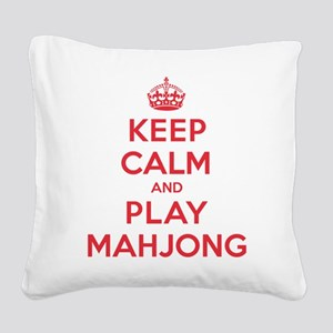 K C Play Mahjong Square Canvas Pillow