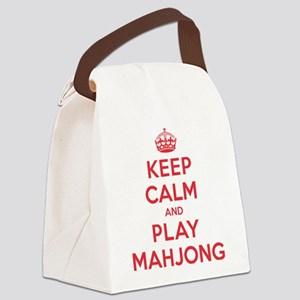K C Play Mahjong Canvas Lunch Bag