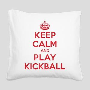 K C Play Kickball Square Canvas Pillow