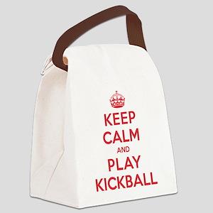 K C Play Kickball Canvas Lunch Bag