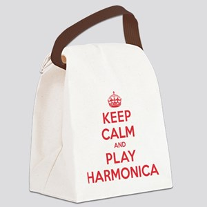K C Play Harmonica Canvas Lunch Bag