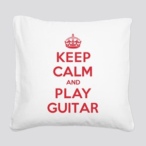 K C Play Guitar Square Canvas Pillow